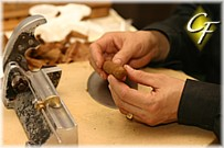 Cigar Rolling equipment consists of a guillotine cutter, chavet and tabla.